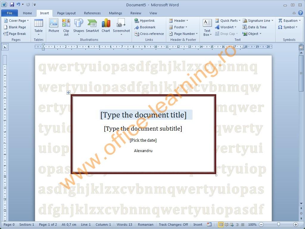 cum pot să inserez pagini de tip copertă într un document word din lista apărută selectează opţiunea save selection to cover page gallery 4